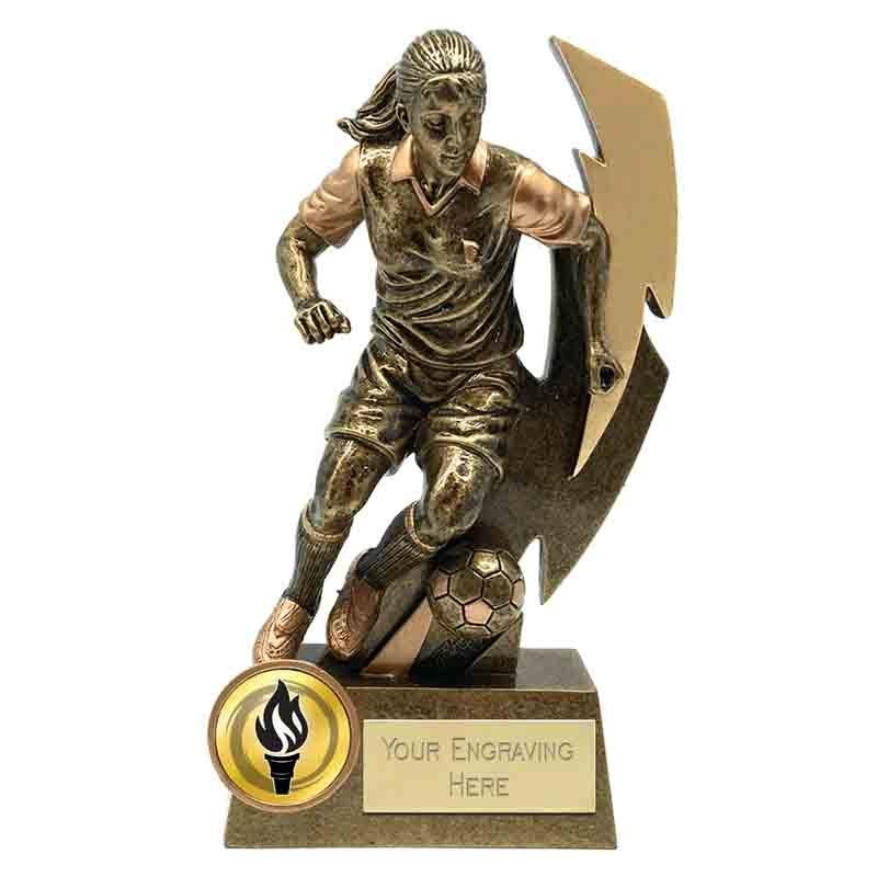 Female Football Trophies