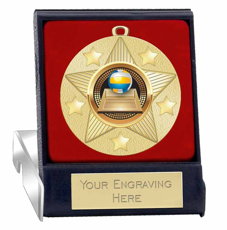 Volleyball Medals 2 Gold Volleyball Medal Award with Free Custom Engraving