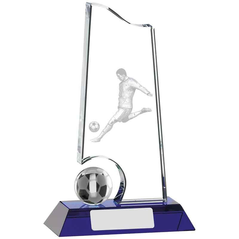 Glass & Crystal Football Trophies