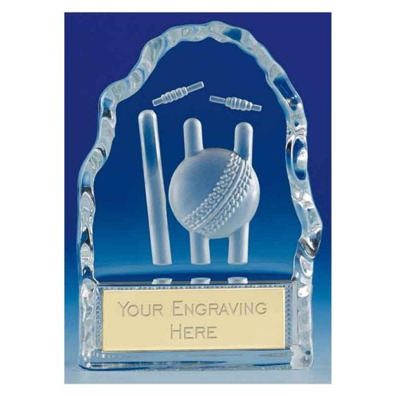 Cricket Glass Trophies
