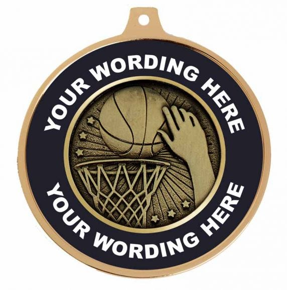Basketball Personalised Medals